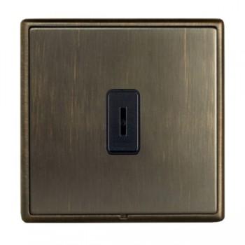 Hamilton Linea-Rondo CFX Richmond Bronze with Richmond Bronze Frame 1 gang 20AX 2 Way Key Switch
