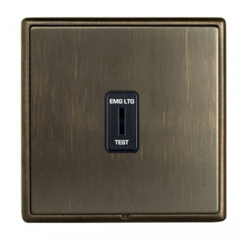 Hamilton Linea-Rondo CFX Etrium Bronze with Etrium Bronze Frame 1 gang 20AX 2 Way Key Switch 'EMG LTG TEST'