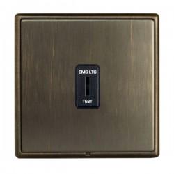 Hamilton Linea-Rondo CFX Richmond Bronze with Richmond Bronze Frame 1 gang 20AX 2 Way Key Switch 'EMG LTG TEST'
