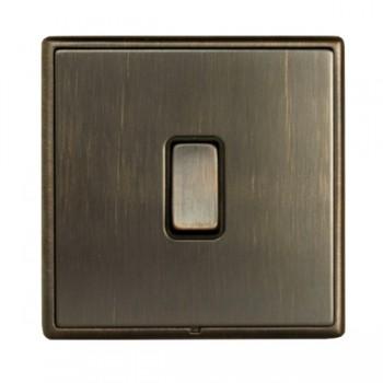 Hamilton Linea-Rondo CFX Etrium Bronze with Etrium Bronze Frame 1 gang 20AX 2 Way Rocker