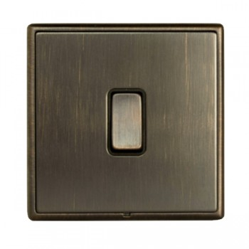 Hamilton Linea-Rondo CFX Etrium Bronze with Etrium Bronze Frame 1 gang 10AX 2 Way Rocker