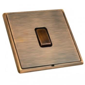 Hamilton Linea-Rondo CFX Copper Bronze with Copper Bronze Frame 1 gang 10AX Intermediate Rocker