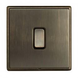 Hamilton Linea-Rondo CFX Richmond Bronze with Richmond Bronze Frame 1 gang 10AX Push To Make/Push to Brea...