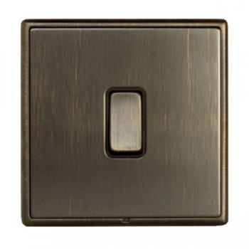 Hamilton Linea-Rondo CFX Richmond Bronze with Richmond Bronze Frame 1 gang 10AX Push To Make/Push to Break Retractive Rocker