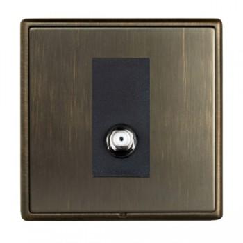 Hamilton Linea-Rondo CFX Richmond Bronze with Richmond Bronze Frame 1 gang Isolated Satellite