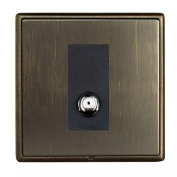 Hamilton Linea-Rondo CFX Etrium Bronze with Etrium Bronze Frame 1 gang Non Isolated Satellite