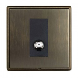 Hamilton Linea-Rondo CFX Richmond Bronze with Richmond Bronze Frame 1 gang Non Isolated Satellite