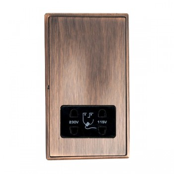 Hamilton Linea-Rondo CFX Copper Bronze with Copper Bronze Frame Vertical Dual Voltage Unswitched Shaver Socket