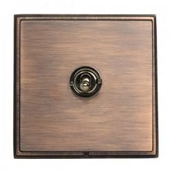 Hamilton Linea-Rondo CFX Copper Bronze with Copper Bronze Frame 1 gang 20AX 2 Way Toggle