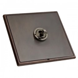 Hamilton Linea-Rondo CFX Etrium Bronze with Etrium Bronze Frame 1 gang 20AX 2 Way Toggle