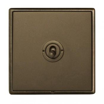Hamilton Linea-Rondo CFX Richmond Bronze with Richmond Bronze Frame 1 gang 20AX 2 Way Toggle