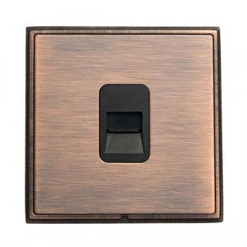Hamilton Linea-Rondo CFX Copper Bronze with Copper Bronze Frame 1 gang Telephone Slave