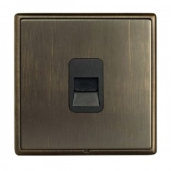 Hamilton Linea-Rondo CFX Richmond Bronze with Richmond Bronze Frame 1 gang Telephone Slave