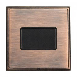 Hamilton Linea-Rondo CFX Copper Bronze with Copper Bronze Frame 1 gang 10A Triple Pole Rocker