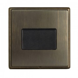 Hamilton Linea-Rondo CFX Etrium Bronze with Etrium Bronze Frame 1 gang 10A Triple Pole Rocker