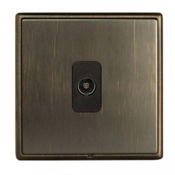 Hamilton Linea-Rondo CFX Etrium Bronze with Etrium Bronze Frame 1 gang Non-Isolated Television 1in/1out