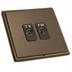 Hamilton Linea-Rondo CFX Richmond Bronze with Richmond Bronze Frame Isolated TV/FM Diplexer 1in/2out