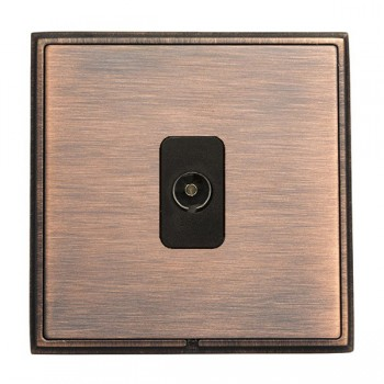 Hamilton Linea-Rondo CFX Copper Bronze with Copper Bronze Frame 1 gang Isolated TV 1in/1out