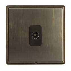 Hamilton Linea-Rondo CFX Richmond Bronze with Richmond Bronze Frame 1 gang Isolated TV 1in/1out