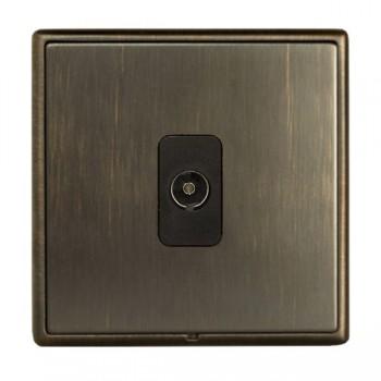 Hamilton Linea-Rondo CFX Richmond Bronze with Richmond Bronze Frame 1 gang Non-Isolated Television 1in/1out