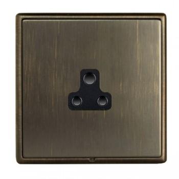 Hamilton Linea-Rondo CFX Etrium Bronze with Etrium Bronze Frame 1 gang 2A Unswitched Socket