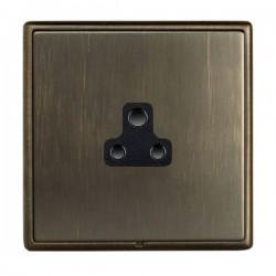 Hamilton Linea-Rondo CFX Richmond Bronze with Richmond Bronze Frame 1 gang 2A Unswitched Socket