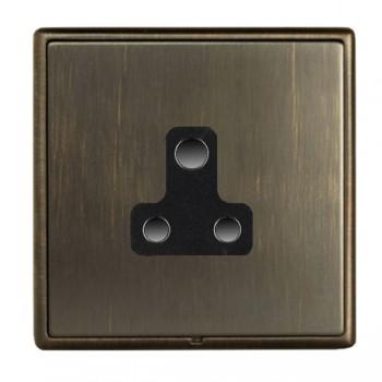 Hamilton Linea-Rondo CFX Etrium Bronze with Etrium Bronze Frame 1 gang 5A Unswitched Socket