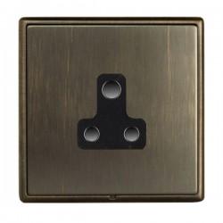 Hamilton Linea-Rondo CFX Richmond Bronze with Richmond Bronze Frame 1 gang 5A Unswitched Socket
