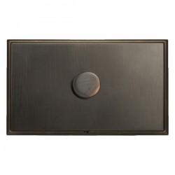 Hamilton Linea-Scala CFX Etrium Bronze with Etrium Bronze Frame 1 gang 1000W 2 Way Leading Edge Push On/Off Resistive Dimmer