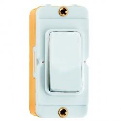 Hamilton Grid Fix Insert Rocker 2 Way 20AX White/White with White Insert