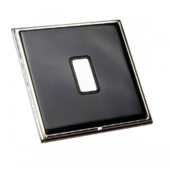 Hamilton Linea-Scala CFX Piano Black with Bright Chrome Frame 1 gang Multi-Way Touch Slave Controller Trailing Edge