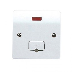 MK Electric Logic Plus™ White 13A Unswitched Fused Connection Unit with Flex Outlet and Neon