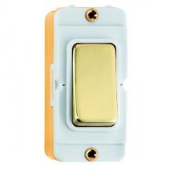 Hamilton Grid Fix Insert Rocker Intermediate 20AX Polished Brass/White with White Insert