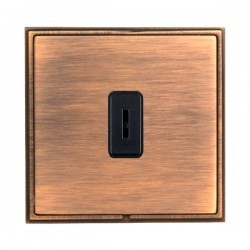 Hamilton Linea-Scala CFX Copper Bronze with Copper Bronze Frame 1 gang 20AX 2 Way Key Switch