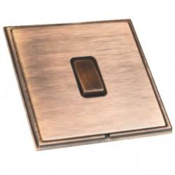 Hamilton Linea-Scala CFX Copper Bronze with Copper Bronze Frame 1 gang 10AX 2 Way Rocker