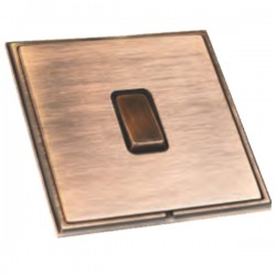 Hamilton Linea-Scala CFX Copper Bronze with Copper Bronze Frame 1 gang 10AX Push To Make/Push to Break Retractive Rocker