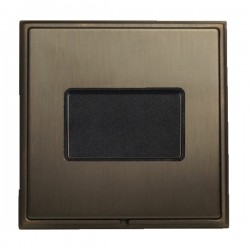 Hamilton Linea-Scala CFX Etrium Bronze with Etrium Bronze Frame 1 gang 10A Triple Pole Rocker