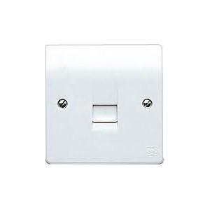 MK Electric Logic Plus™ White 1 Gang Slave Telephone Socket