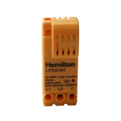 Hamilton 1 gang 200VA 2 Way Leading Edge Push On/Off Inductive Dimmer