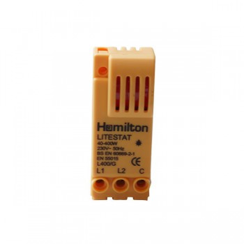 Hamilton 1 gang 400W 2 Way Leading Edge Push On/Off Resistive Dimmer