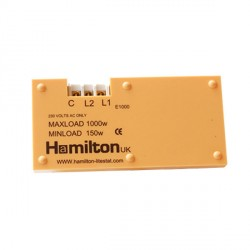 Hamilton 1 gang 1000W 2 Way Leading Edge Push On/Off Resistive Dimmer