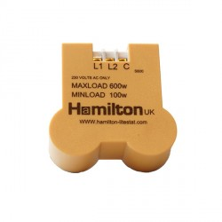 Hamilton 1 gang 600W 2 Way Leading Edge Push On/Off Resistive Dimmer