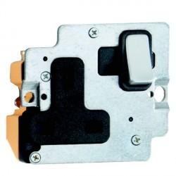 Hamilton Grid Fix Insert 1 Gang 13A Switched Socket Satin Chrome/Black with Black Insert
