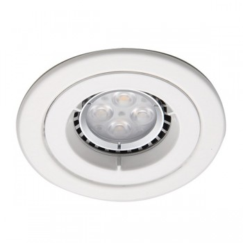 Ansell Twistlock IP65 50W Fixed GU10 White Die-Cast Downlight