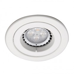 Ansell Twistlock IP65 50W Fixed GU10 Matt White Die-Cast Downlight