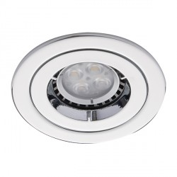 Ansell Twistlock IP65 50W Fixed GU10 Chrome Die-Cast Downlight