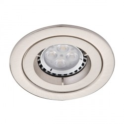 Ansell Twistlock IP65 50W Fixed GU10 Satin Chrome Die-Cast Downlight