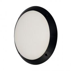 Ansell Pesaro Circular LED Black Bulkhead