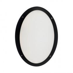 Ansell Ancona Oval LED Black Bulkhead