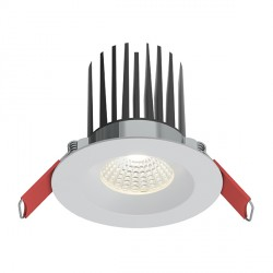 Ansell Savona 10W Warm White Non-Dimmable Fixed White LED Downlight